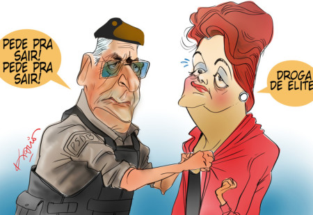 Charge FHC Dilma Tropa de Elite